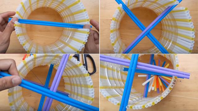 Sử dụng keo nến cố định các vị trí và dán ông hút lên trên. Hoặc bạn cũng có thể sử dụng keo hai mặt trong trường hợp này.