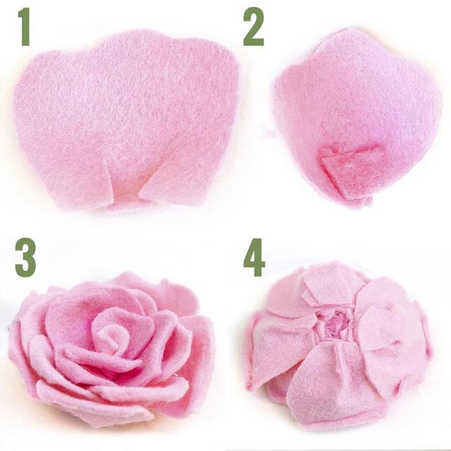 Các cánh hoa được sử dụng để làm một bông hoa sẽ bao gồm: 1 cánh hoa nhỏ, 10 cánh hoa trung bình, 4 cánh hoa lớn