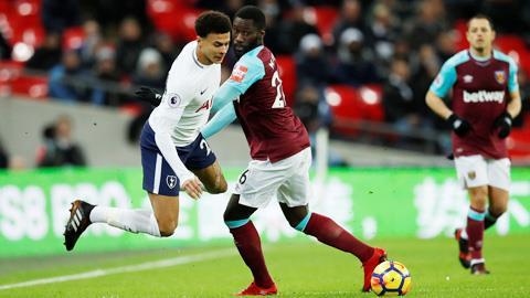 West Ham và Tottenham đối đầu nhau vào 21h ngày 17/10/2020