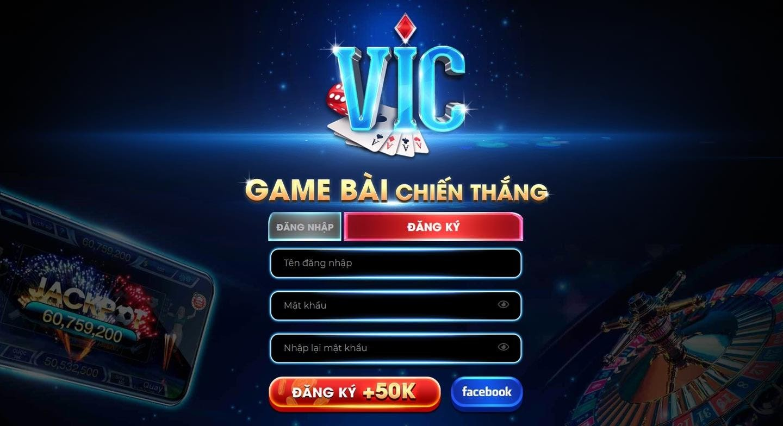 Đăng nhập hoặc là đăng ký tham gia kho game bài đổi thưởng vic